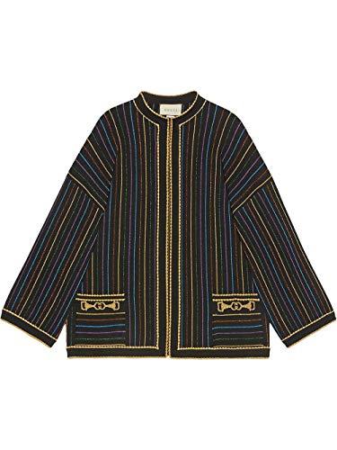 Gucci Luxury Fashion Damen 606003XKA3T1004 Schwarz Strickjacke | Frühling Sommer 20