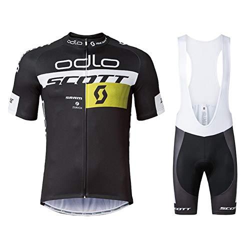 Completo Abbigliamento Ciclismo Uomo Estivo Maglia MTB Maniche Corte con Pantaloncini Abbigliamento Ciclismo Estivo