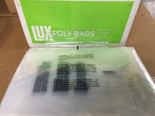 100 14x20 Self Seal Suffocation Warning Poly mil Bags Finally resale start Albuquerque Mall Clear 1.5