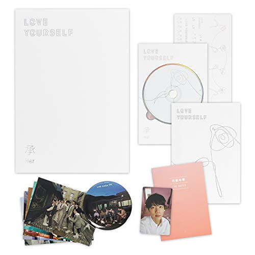 BTS 5th Mini Album - LOVE YOURSELF 轉 HER [ L ver. ] CD + Photobook + Mini Book + Photocard + Sticker Pack + FREE GIFT / K-POP Sealed