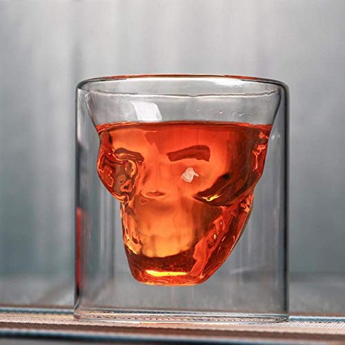 XCVB glazen pot 3 maten twee mogelijkheden schot transparant kristal schedel kop bierpul glazen pot kristal whisky wodka koffiekopje 25 ml ~ 150 m