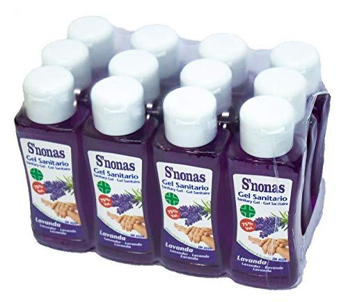 Gel Sanitario S´nonas Aromas 100 ml. Aroma Lavanda. Pack 12 Uds