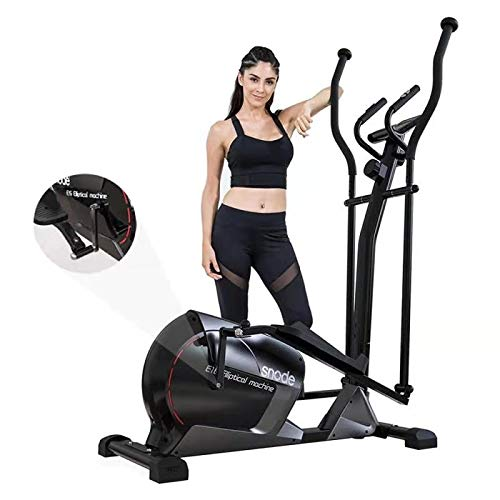 SNODE Elliptical Machine for Home Use, 3PC Crank Construct Eliptical Exercise Machine with LCD...