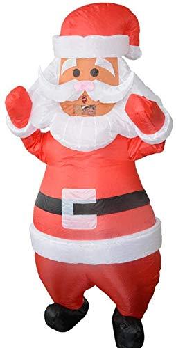 N\A ZT Navidad Santa Claus Disfraz Inflable Partido Halloween Masquerade Carnaval Disfraz Disfraz de Rendimiento de Holiday Props Traje de Navidad (Color : White)
