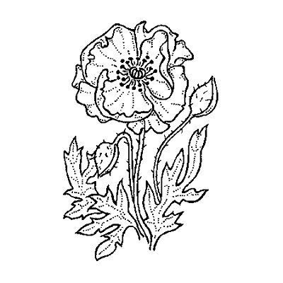 Art Stamps Tampon Simple Coquelicot