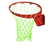 Opopark 2 Piezas Red de Baloncesto Luminosa Red de Baloncesto Fluorescente Red de Baloncesto Profesional al Aire Libre Red Estándar Tejida de Nylon