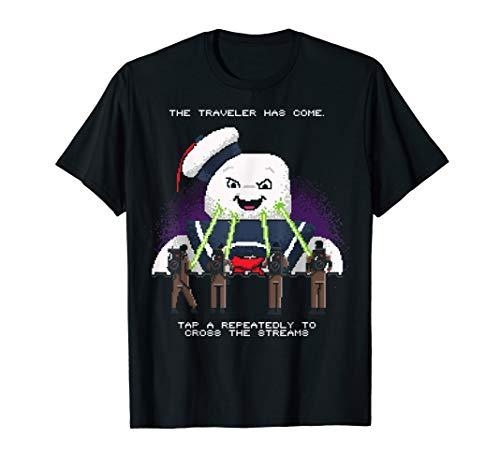 Ghostbusters Cross The Streams 8-Bit T-Shirt