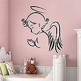 engel flügel wandsticker - baby kinderzimmer - jungs und mädchen zimmer abnehmbaren wandtattoo...
