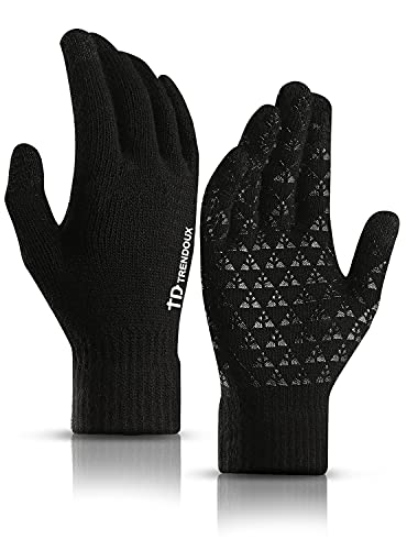 TRENDOUX Driving Gloves, Unisex Knit Winter...