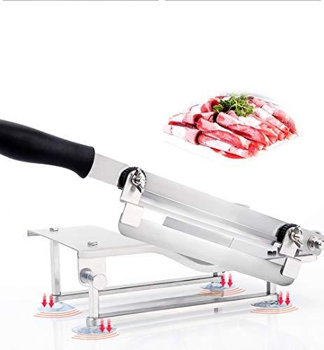 CGOLDENWALL Edelstahl Fleisch Gemüseschneider Fleisch Gemüse Allesschneider Manuelle Gefrierfleischschneidemaschine Aufschnittmaschine für Hauskochen Kleine Typ
