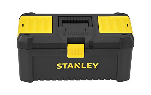 Stanley STST1-75517 Essential 16' Toolbox with Plastic Latches, Black/Yellow