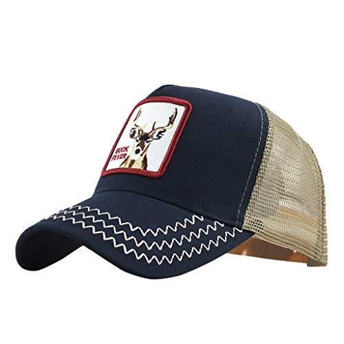 MERICAL Gorras de béisbol Unisex Bordadas algodón al Aire Libre Unisex Ajustables(Armada)