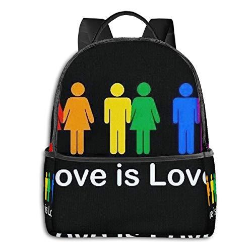 FONDSILVER LGBT Pride Culture Sac à Dos pour école, Livre, Sac à bandoulière décontracté pour Ordinateur Portable Unisexe Adolescent Femme Fille Garçon