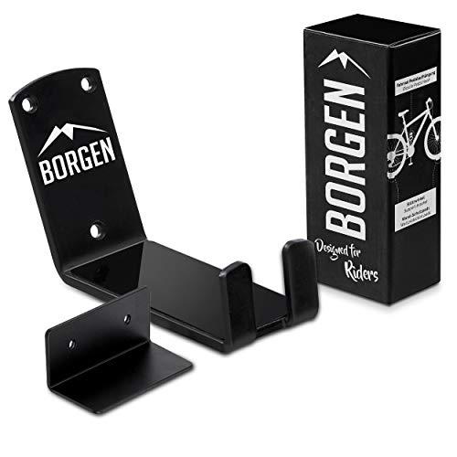 Borgen Fahrrad Wandhalterung Pedalaufhängung E-Bikes, MTB, Rennrad Wandhalter mit Stützwinkel und Wandschutzpads