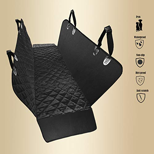 Dog Car Seat Covers, Pet Car Seat Cover for Back Seat Covers for Dogs Waterproof Nonslip for Cars Trucks Suv Seat Covers for Dogs - Scratch proof Hammocks Seat Protector for Pets (Back Seat Size)
