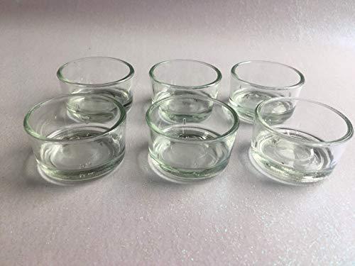 Teelichthalter Glas 10 Stück oder 48 Stück Teelichtform Kerzenform Teelichter Kerzen selber machen gießen Gastgeschenk Hochzeit Teelichtbehälter