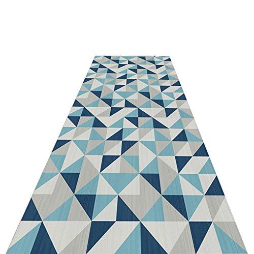XZtianxie Tappeti Runner, Fantasia Geometrica Lavabile Passatoia Corridoio, per Soggiorno Cucina Scale Hotel può Essere Tagliato Antiscivolo Tappeto Domestico,90X200CM