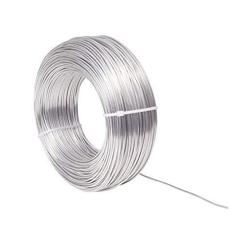 NBEADS 100m 1.5mm Alambre de Aluminio Plateado, Alambre de Metal Floral para Manualidades DIY Fabricación de Joyas Fabricación de Abalorios Y Modelado de Esculturas