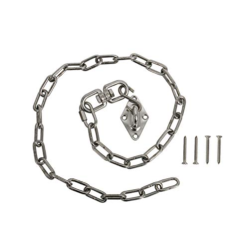 Finderomend Hammock Chair Hanging Kits-Max 440 Lbs Swing Hooks with 1 Meter/3.28ft Stainless Steel Chain-Indoor or Outdoor Use-Stainless Steel Chain Hanging Pilates Heavy Duty