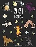 Gatti e Yoga Agenda 2021: Inizia Ora e Dura Fino Dicembre 2021 | Pianificatore Settimanale 2021 (12 Mesi)