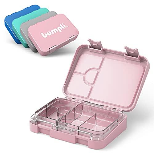 Bumpli® Kinder Brotdose mit Fächern - kinderfreundliche Verriegelung mit Klick-Verschluss - Lunchbox, Bento Box für Kindergarten, Schule, Ausflüge