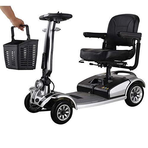Silla de Ruedas Eléctrica de Cuatro Ruedas con Discapacidad para Ancianos, Scooter...