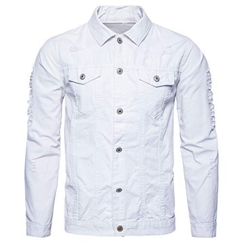 Yczx Herren Jacke Denim Vintage Jeansjacke Herren Jacke Übergangsjacke Mode Sweatjacke...