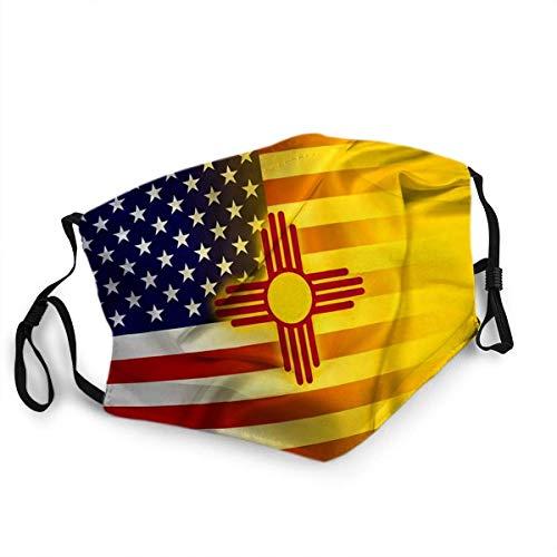 Wiederverwendbare F ace S hield M outh M Fragen Waving USA und New Mexico State Flag mit 2 Stück Filter