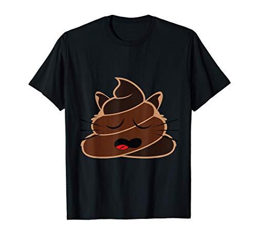 Caca Emoji Gato Dormido Emoji Siesta Pijama Moda Emoticon Camiseta