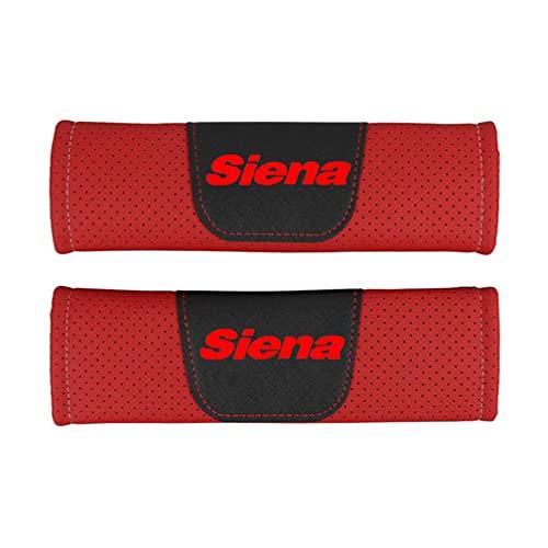 KYQYLL - 2 imbottiture per cintura di sicurezza, per Fiat Siena, protezione per cintura di sicurezza, imbottitura per interni auto (rosso, nero)