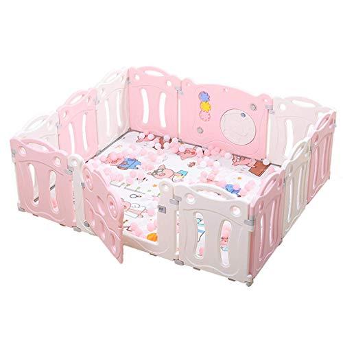 ZHAS Sicherheit - Baby-Laufstall - Sicheres Spielbett - Umweltfreundlich - Leicht zu reinigen - Geeignet für Kinder von 0 bis 6 Jahren - Aktivitätsanzeige für Innen und Außen - 12 Jahre