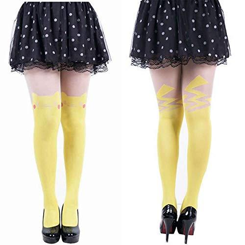 Calcetines De Deporte Para Mujer2 Pares De Mujeres Dibujos Animados Impresos Pikachu Medias Primavera Otoño Medias Sexy Niñas Kawaii Harajuku Pantimedias Señoras Tatuaje Medias Venta Caliente