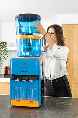 Eco DE - Depuratore d'acqua Aqua Tower Plus, per purificazione dell'acqua e distribuzione di acqua calda, fredda o a temperatura ambiente