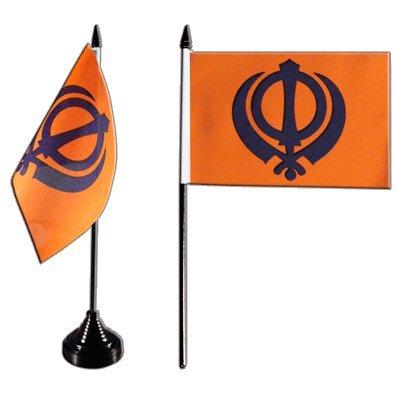 Flaggenfritze® Tischflagge Sikhismus 10x15 cm