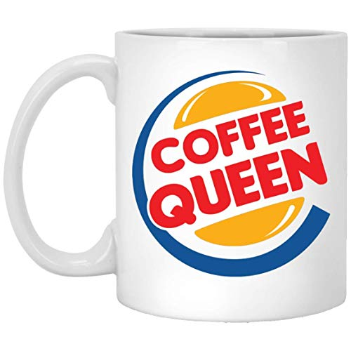 Coffee Queen Valentine Day Anniversary Mug for Couple