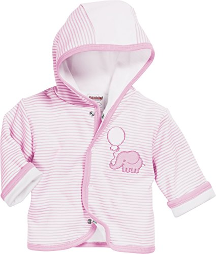 Schnizler Baby-Unisex Jäckchen Interlock Elefant Jacke, Rosa (Rosa 14), 62