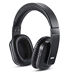 August EP750 Active Noise Cancelling Wireless Bluetooth Over-Ear Stereo Headphones with Microphone and Volume Control