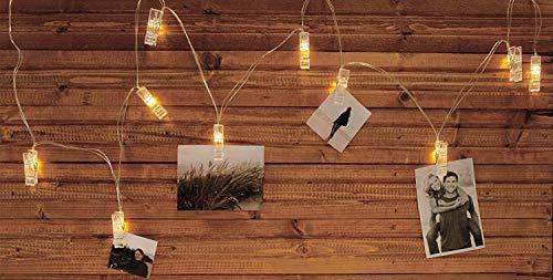 MIK funshopping Guirlande Lumineuse avec 40 LED Blanches 500 cm