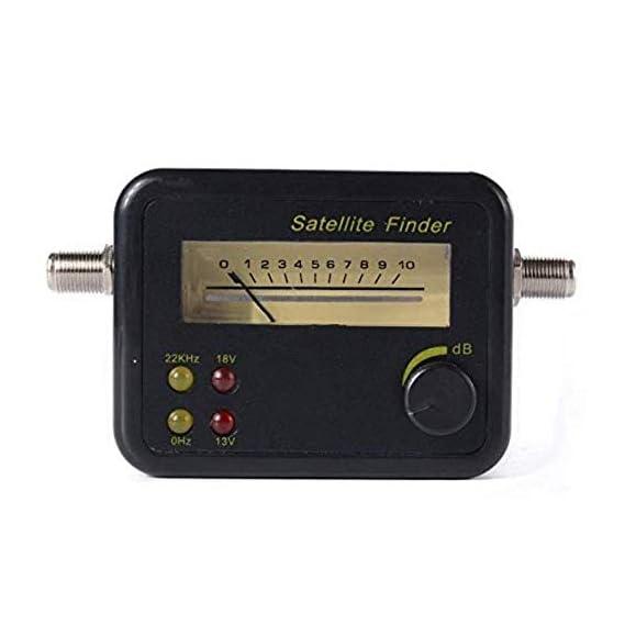 ERH INDIA Satellite Signal Finder Meter for Signal Strength Dish, Satelite TV Satellite Receiver Finder
