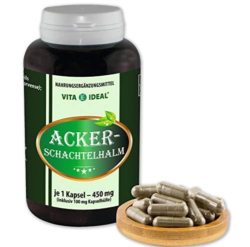 VITA IDEAL ® Ackerschachtelhalm (Equisetum arvense, Schachtelhalm, Zinnkraut) 180 Kapseln je 450mg, aus rein natürlichen Kräutern, ohne Zusatzstoffe
