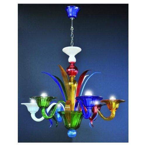 Doge Multicolor hecho a mano Murano lámpara de araña