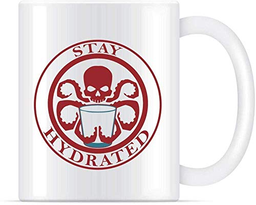 N\A Stay Hydrated Classic Comic Comedy Wits Tazas de café de cerámica Tazas de 11 oz y 11 oz