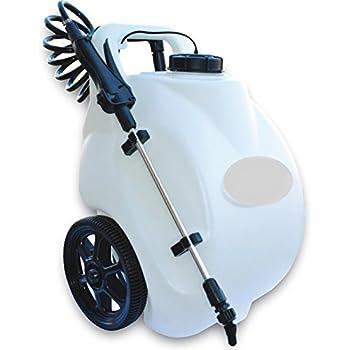 Amazon Com Garden Sprayer On Wheels 12 Volt Lithium Ion Rechargeable Battery Operated Pump Home Lawn Fertilizer Weed Killer Pesticide Dolly Cart Pressure Spot Sprayer Garden Outdoor