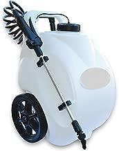 Garden Sprayer On Wheels Battery Operated Pump Home Lawn Fertilizer Weed Killer Pesticide Dolly Cart Pressure Spot Sprayer 12 Volt Rechargeable Battery