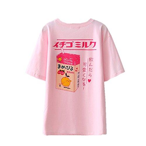 Packitcute Camisetas de algodón de las mujeres estilo japonés lindo dibujos animados...