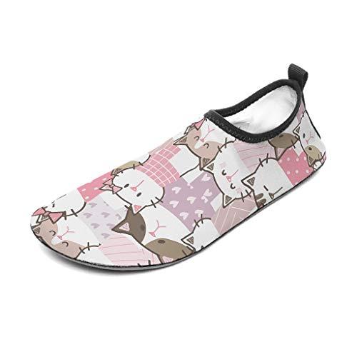 Bannihorse Zapatillas de goma para mujer, para playa, natación, surf o yoga, color blanco, talla 4 40/41