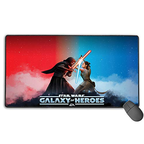 Large Gaming Mouse Pad Star Wars Waterproof Non-Slip Rubber Ultra Thick 3Mm 11.8X31.5 in(30Cm X 80Cm)
