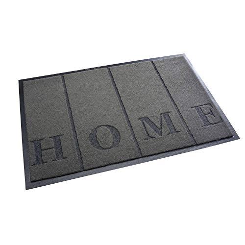 acerto Zanzibar Home Fußmatte, waschbarer & Rutschfester Türvorleger, ohne PVC für innen und außen (40x60cm - grau)