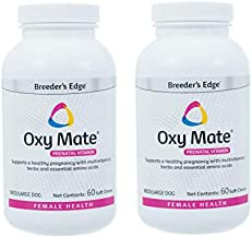 Revival Animal Health Breeder's Edge Oxy Mate (2 Pack, 120 Total Chews) Prenatal Soft Chews for Medium & Large Dogs & Cats, Pregnancy Vitamins for Dogs & Cats, 2-60 Count Bottles