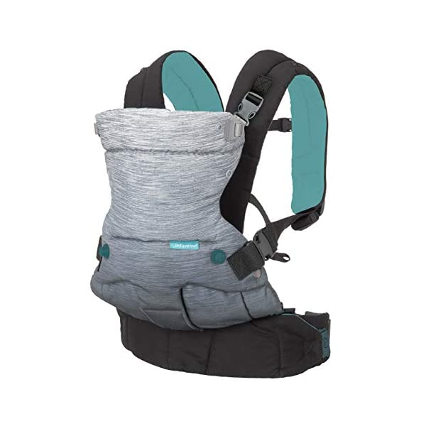 Infantino Go Forward 4-in-1 Evolved Ergonomic Baby Carrier with Multiple Carrying Positions, Natural Outfacing Support Seat & Built-in Light & Breathable Hood